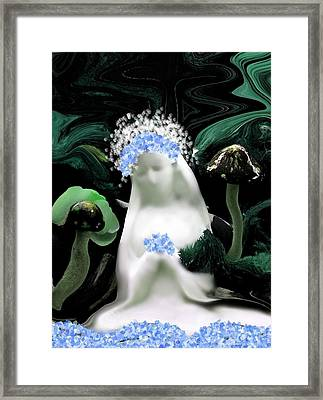 Blessed Mother Mary Framed Print by Sherri's Of Palm Springs