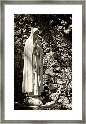 Blessed Mother Framed Print by Michelle Wiarda
