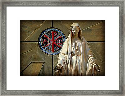 Blessed Virgin Mary -- Nazareth Framed Print by Stephen Stookey