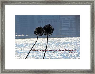 Blessed With Comfort Framed Print