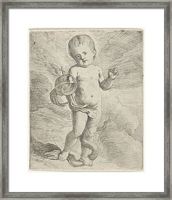 Blessing Christ Child, Anonymous Framed Print