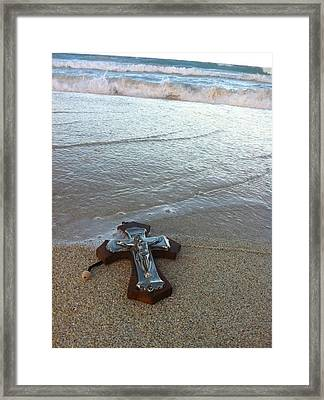 Blessing In The Sand Framed Print