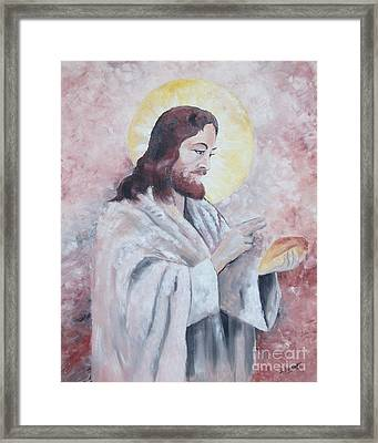 Blessing Of The Bread Framed Print by Jim Janeway