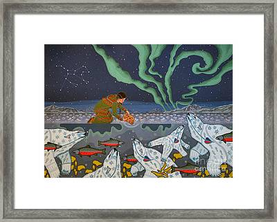 Framed Print featuring the painting Blessing Of The Polar Bears by Chholing Taha