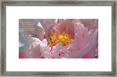 Blessings And Blossoms  Framed Print