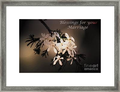 Blessings For Your Marriage Framed Print by Cassandra Buckley
