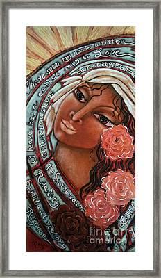 Blessings Of The Magdalene Framed Print by Maya Telford