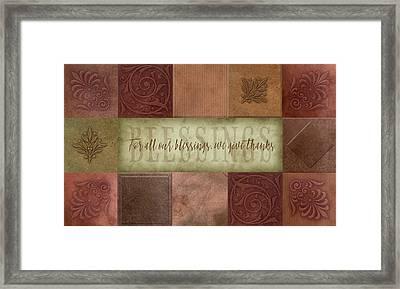 Blessings Framed Print