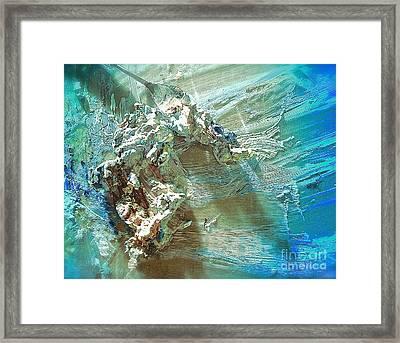 Bleu Comme Le Danube Framed Print