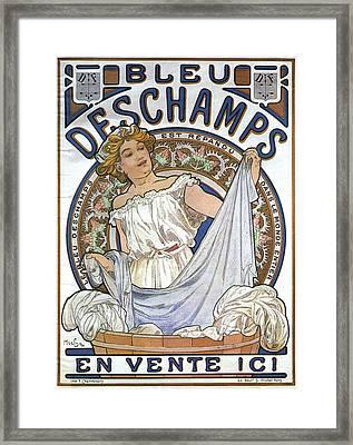 Bleu Deschamps Framed Print by Georgia Fowler