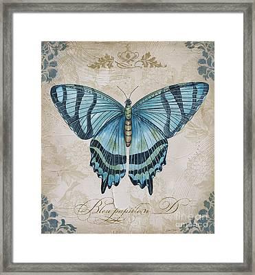Bleu Papillon-d Framed Print