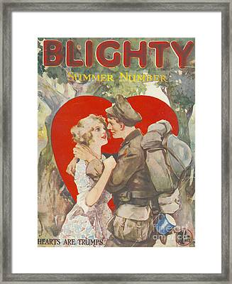 Blighty 1918 1910s Uk First Issue Ww1 Framed Print by The Advertising Archives