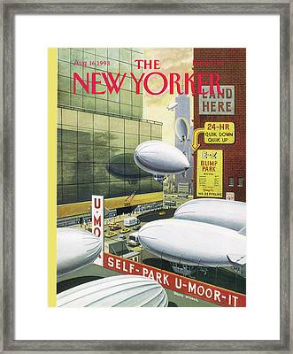 Blimp Park Framed Print