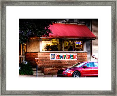 Blimpy Burger Framed Print
