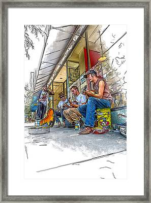 Blind Boy Chocolate And The Milk Sheiks Framed Print by John Haldane