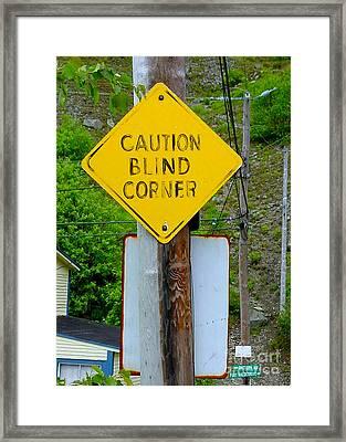 Blind Corner Framed Print