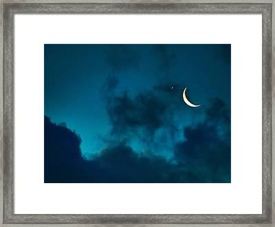 Framed Print featuring the photograph Blind Date With Venus by Meir Ezrachi