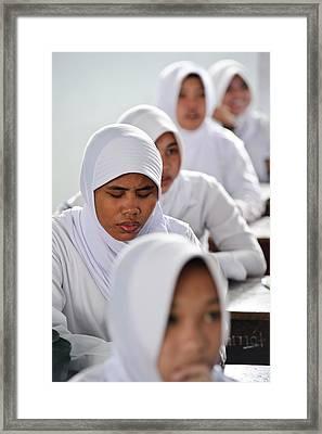 Blind Girl In Mainstream School Framed Print
