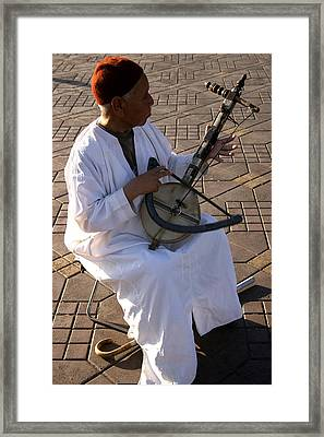Blind Man Place Djemna Al Fna Marrakesh Morocco Framed Print by Ralph A  Ledergerber-Photography