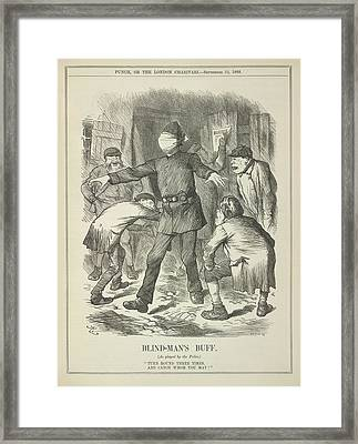 Blind-man's Buff Framed Print by British Library