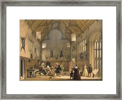 Blind Mans Buff, Played In Athelhampton Framed Print