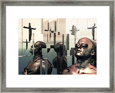 Framed Print featuring the digital art Blind Reflections by John Alexander