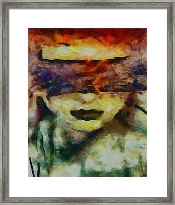 Framed Print featuring the digital art Blinded By Sorrow by Joe Misrasi