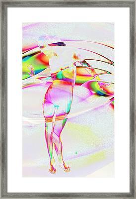 Blinded By The Light Framed Print by Kiki Art