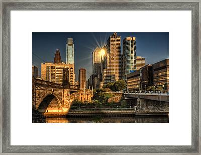 Blinded By The Light. Framed Print by Rob Dietrich