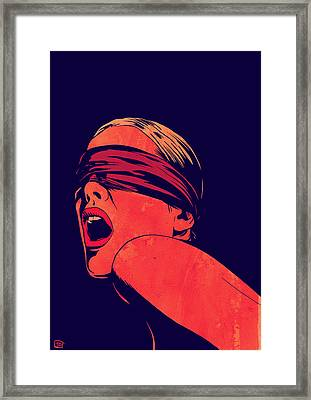 Blindfolded Framed Print