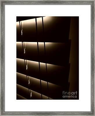 Blinds Framed Print by Jeff Breiman