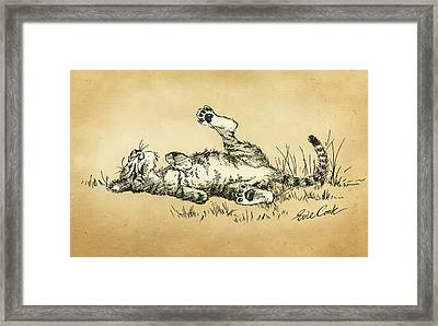 Bliss In The Grass Framed Print by Evie Cook