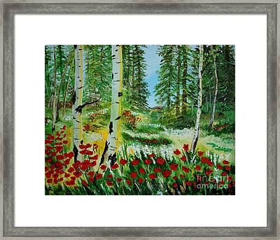 Framed Print featuring the painting Bliss by Leslie Allen