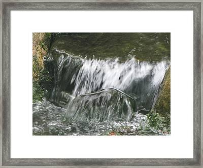 Blissful Falls Framed Print by Harry Wojahn