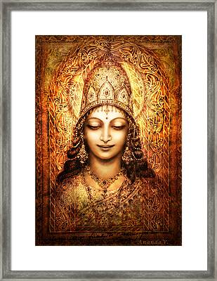 Blissful Goddess Framed Print by Ananda Vdovic