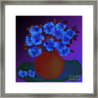 Framed Print featuring the digital art Blissful by Latha Gokuldas Panicker