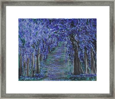 Blissful Walk Through Purple Framed Print by Suzanne Surber