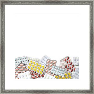 Blister Packs Of Pills Framed Print by Science Photo Library