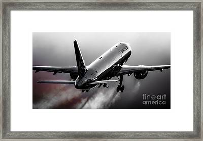 Blistering Performance Framed Print