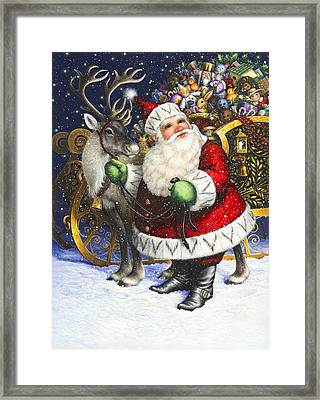 Blitzen Framed Print by Lynn Bywaters