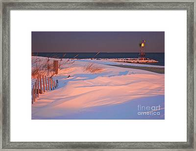 Blizzard Juno Sunset Framed Print by Amazing Jules