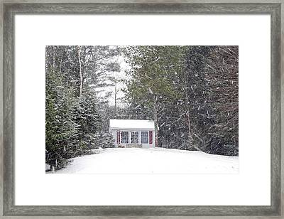 Framed Print featuring the photograph Blizzard Of 2013 Begins by Barbara West