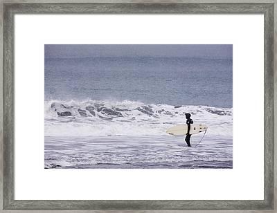 Blizzard Surfing Framed Print