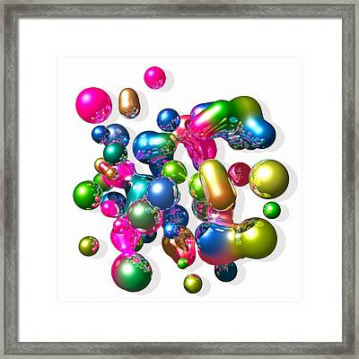 Framed Print featuring the digital art Blobs Of Fun... by Tim Fillingim