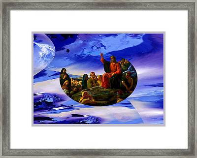 Bloch Jesus Sermon Framed Print by Robert Kernodle