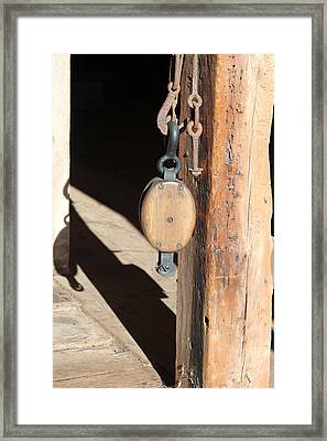 Block And Tackle 1 Framed Print by Mary Bedy