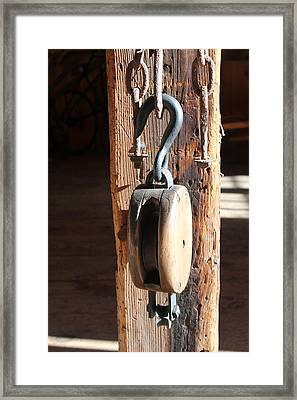Block And Tackle 3 Framed Print by Mary Bedy