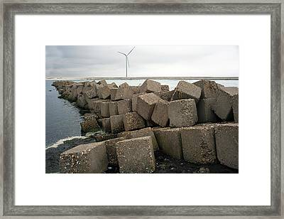 Block Dam Framed Print by Dirk Wiersma