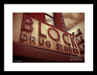 Drug Store Framed Prints