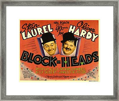 Block Heads Framed Print by Studio Release